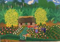 """El Maestro (Luis Rodriguez Arias) #5323. """"La puerta de la Macagua,"""" 2010. Oil on canvas. 14.5 x 21.5 Inches."""