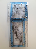 "William Perez  #5931 ""Ni mas ni menos,"" 2008. Mixed media, pleglass. 13 x 5 inches.    NFS"
