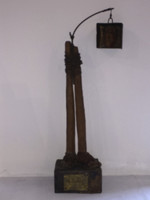 William Perez (SL) NFS> Untitled, 1997. Mixed media sculpture. 16 x 6 x 6 inches.     NFS