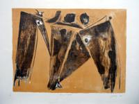 """Lescay (Alberto Lescay Merencio) #6246. """"Una tarde,"""" 2010. Lithograph print edition 2 of 20. 19.75 x 27.5 inches SOLD!"""