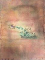 "Tonel (Antonio Eligio Tonel) #6112. Boom toy, 2006. Watercolor and ink on paper.  24"" x 18."""