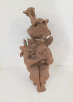 Martha Jimenez #5457  Untitled, N.D. Clay sculpture from Camaguey, Cuba. 7 x 2 x 3 inches