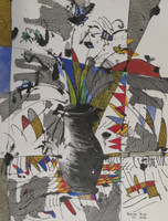 Nestor Vega #5743  Untitled, 2003. Mixed media on paper. 18 x 13.75 inches.