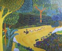 "Odais Palacio Mesa #6595  ""La cantera,"" 2016. Oil on canvas. 16 x 19.5 inches. SOLD!"