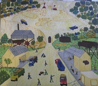 "Odais Palacio Mesa #6592  ""La cantera,"" 2013. Oil on canvas. 10.75 x 12 inches."