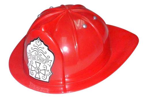 Kids Dress-up Fireman Costume Toy Fire Chief Hat Helmet