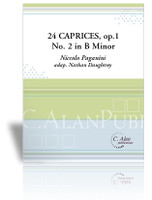 24 Caprices, No. 2 in B Minor (Paganini)