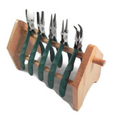 Wubbers ProLine Pliers -- Set of Five, FREE Wooden Stand