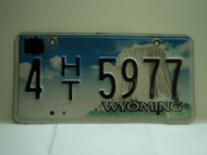 Wyoming License Plate 4 HT 5977