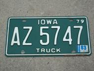 19791983 IOWA Truck License Plate AZ 5747