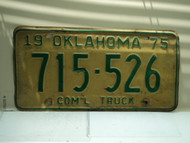 1975 OKLAHOMA Commercial Truck License Plate 715 526