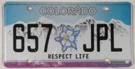 Colorado Respect Life 657 JPL License Plate