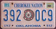 Oklahoma Cherokee Nation 2005 License Plate