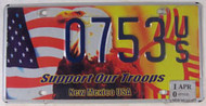 2010 Apr New Mexico License Plate Troops 0753 US