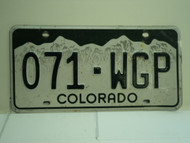 COLORADO License Plate 071 WGP
