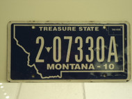 2010 MONTANA Treasure State License Plate 2 07330A