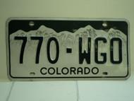 COLORADO License Plate 770 WGO