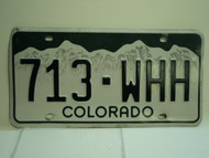 COLORADO License Plate 713 WHH