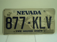NEVADA Silver State License Plate 877 KLV