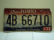 2000 IDAHO Famous Potatoes License Plate 4B 66710