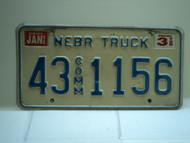 1995 NEBRASKA Commercial Truck License Plate 43 Comm 1156