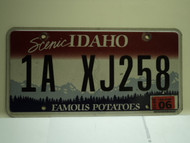 2012 IDAHO Scenic Famous Potatoes License Plate 1A XJ258