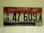 1996 IDAHO Famous Potatoes License Plate 4B 47 609