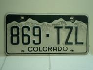 COLORADO License Plate 869 TZL