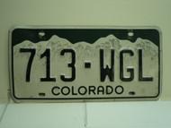 COLORADO License Plate 713 WGL