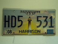 2011 MISSISSIPPI Lighthouse License Plate HD5 531