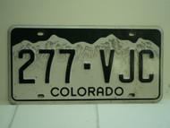 COLORADO License Plate 277 VJC