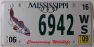 2009 Jun Mississippi Fish Wildlife License Plate