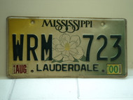 2000 MISSISSIPPI Magnolia License Plate WRM 723