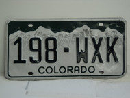 COLORADO License Plate 198 WXK