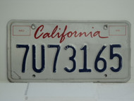 CALIFORNIA Lipstick License Plate 7U73165