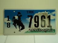 WYOMING Bucking Bronco Devils Tower Truck License Plate 18 7961 1