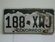 COLORADO License Plate 188 XWJ