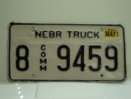 2003 NEBRASKA Commercial Truck License Plate 8 9459