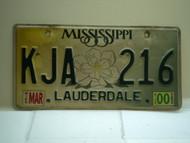 2000 MISSISSIPPI Magnolia License Plate KJA 216