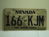 NEVADA Silver State License Plate 166 KJM