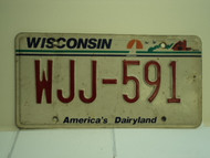 WISCONSIN America's Dairyland License Plate WJJ 591