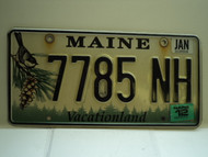 2012 MAINE Vacationland License Plate 7785 NH