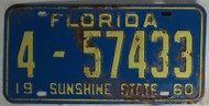 1960 Florida 4-57433 License Plate