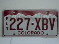 COLORADO Fleet Truck License Plate 227 XBV