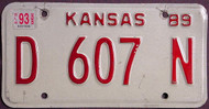 Kansas Dealer 1993 License Plate 1