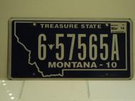 2010 2014 MONTANA Treasure State License Plate 6 67565A