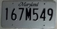 Maryland 167M549 License Plate