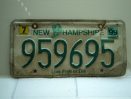 1999 NEW HAMPSHIRE Live Free or Die License Plate 959695