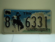 Wyoming Truck License Plate 8 6331
