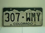 COLORADO License Plate 307 WMY